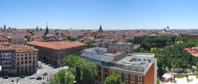 Madrid panorama stock images