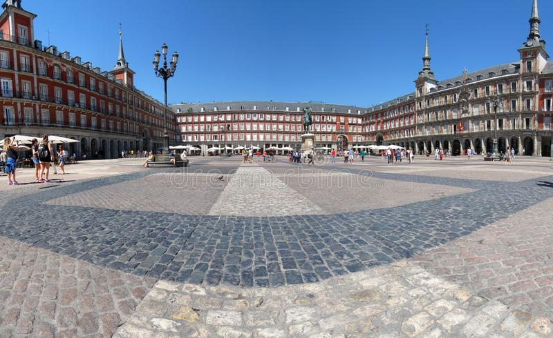 Madrid panorama royalty free stock images