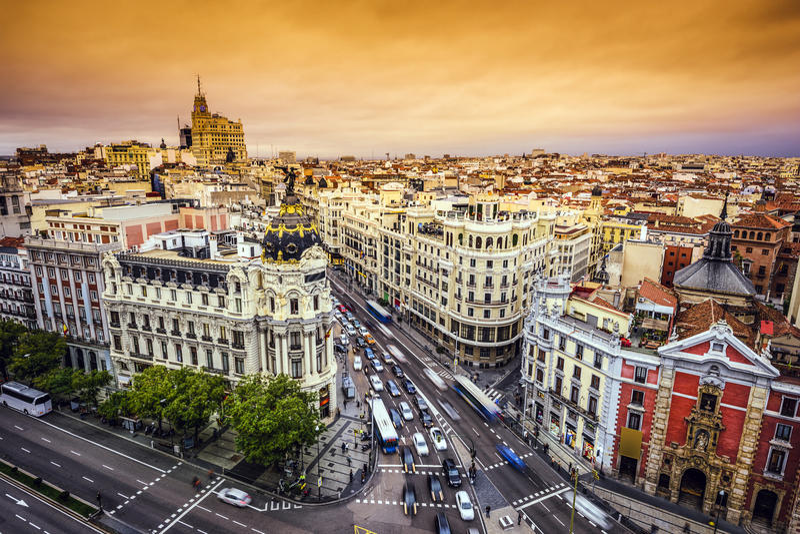 Madrid, paysage urbain de l'Espagne photo stock