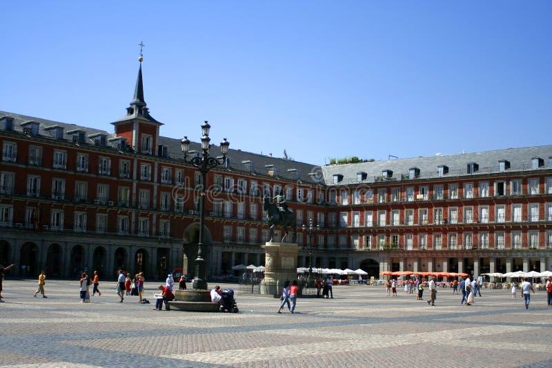 Madrid plaza royalty free stock images