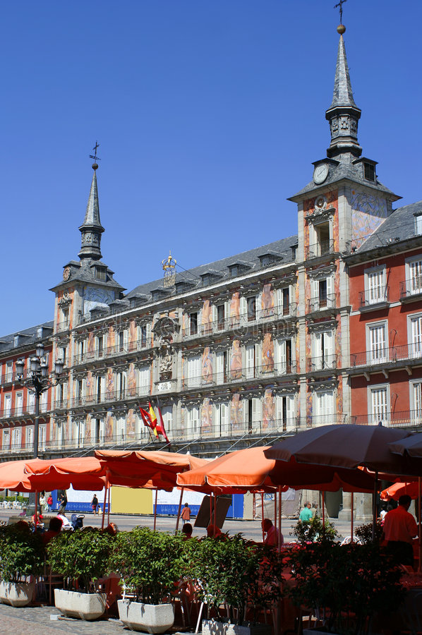 Download Madrid plaza stock photo. Image of tourism, people, architecture - 1188798