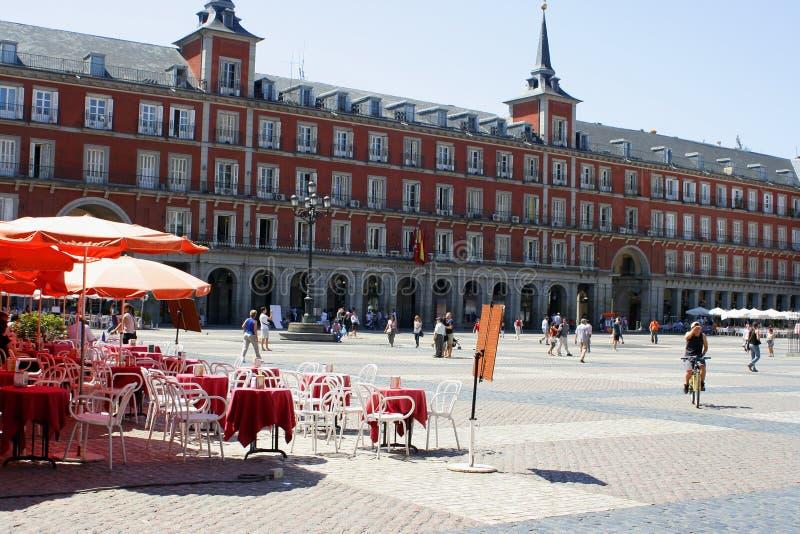 madrid plaza royaltyfri fotografi