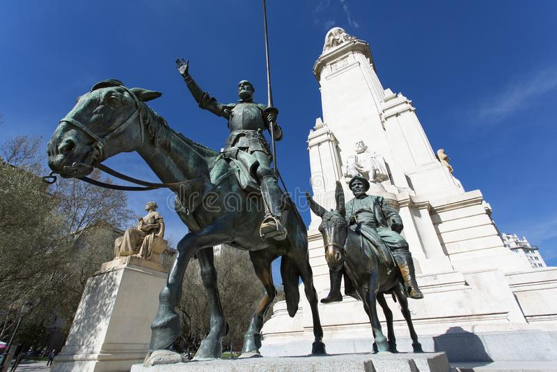 Madrid, Plaza de Espana. Spain, Madrid, Plaza de Espana royalty free stock photography