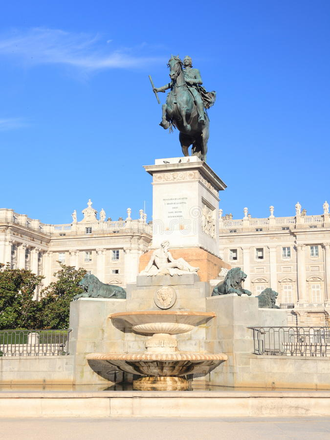 Madrid - Plaza de Oriente fotografie stock