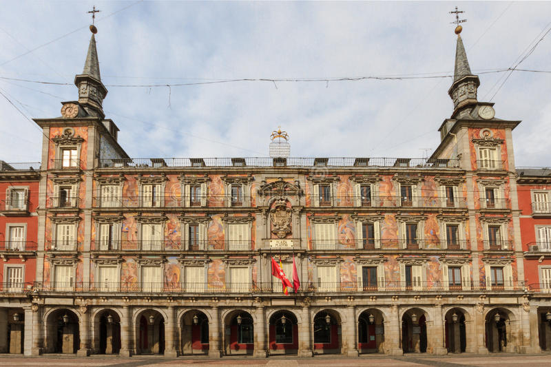 Madrid plaza mayor facade of casa de la panaderia royalty free stock photography image 32406737 - Casa de la panaderia madrid ...