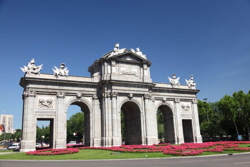 Madrid Puerta de Alaca fotografia stock
