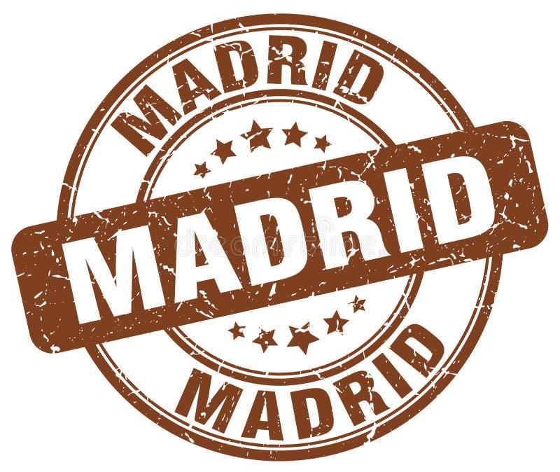 Madrid stamp. Madrid round grunge stamp isolated on white background. Madrid vector illustration