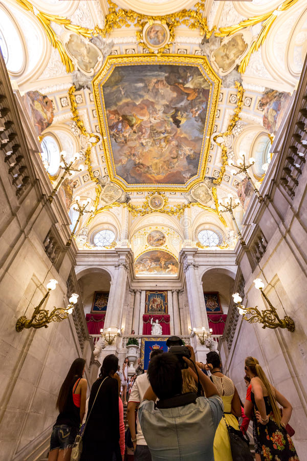 Madrid Royal Palace royalty free stock photo