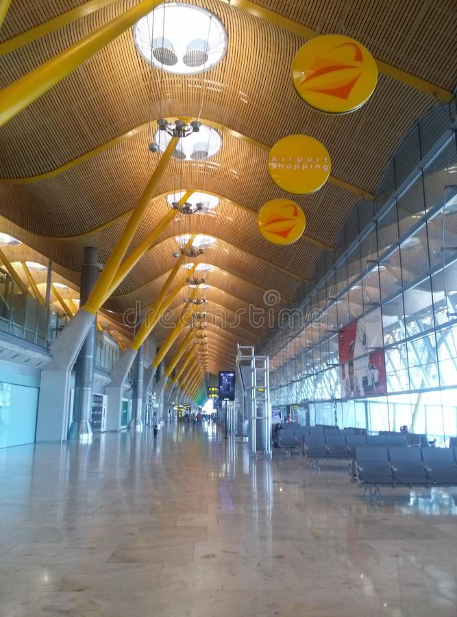 Madrid's airport royalty free stock photo