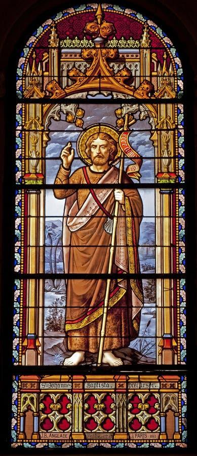 Madrid - San Juan Bautista del cristal de la iglesia San Jeronimo el Real fotos de archivo libres de regalías