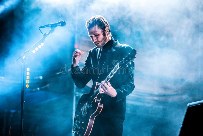 Interpol band perform in concert at Dcode Music Festival. MADRID - SEP 9: Interpol band perform in concert at Dcode Music Festival on September 9, 2017 in Madrid royalty free stock photography