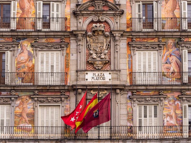 Madrid - sindaco della plaza immagini stock