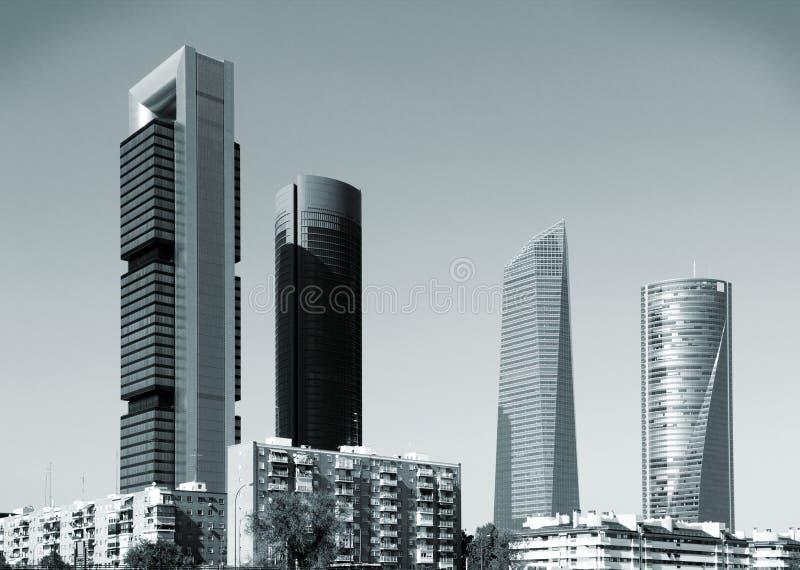 Madrid-Skyline lizenzfreie stockfotografie