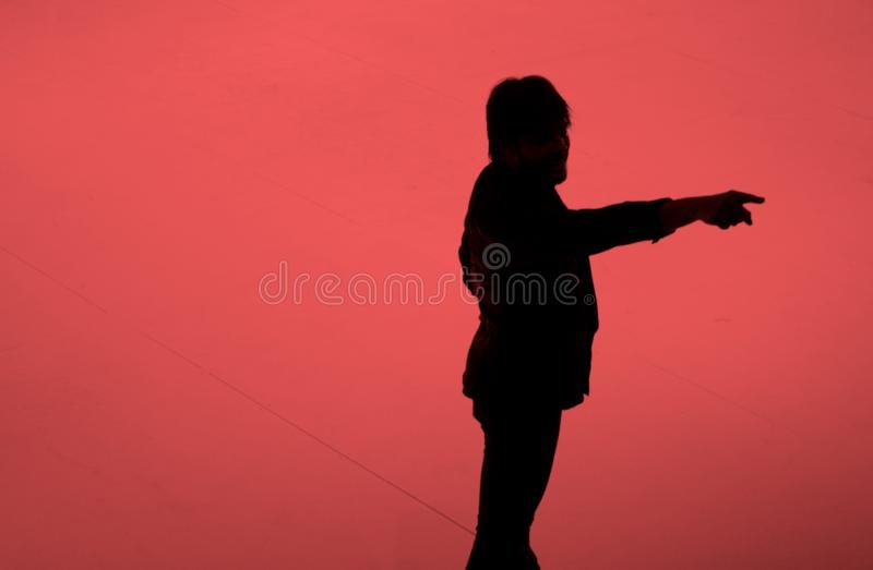 Madrid, Spagna - dicembre 2009: Joaquin Cortes in scena immagini stock libere da diritti