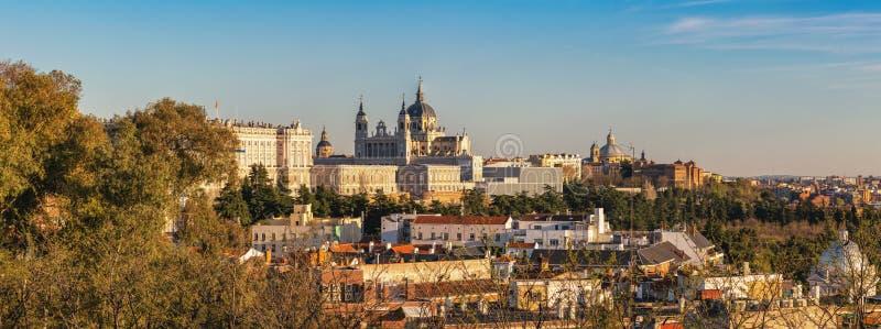 Madrid Spagna panorama city skyline immagini stock