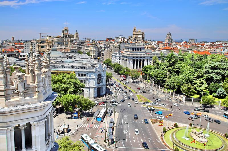 Madrid Spain imagens de stock