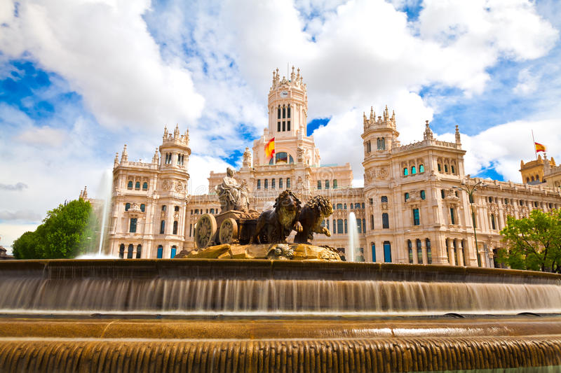 madrid spain royaltyfria bilder