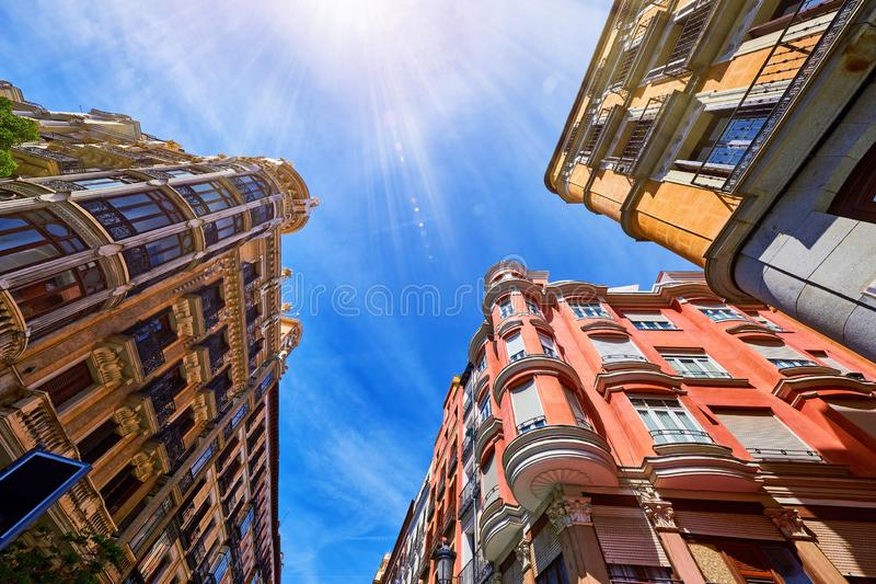 Madrid Spain. Antique Spanish architecture of old royalty free stock image