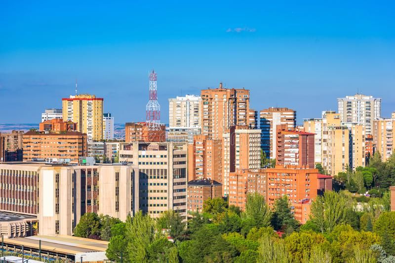 Madrid, Spain apartment building cityscape royalty free stock photo