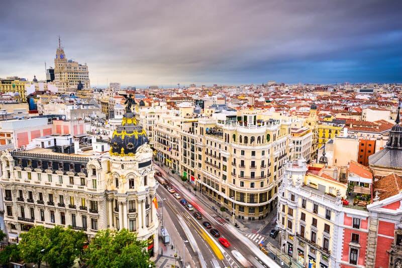 Madrid Spain Cityscape stock photos