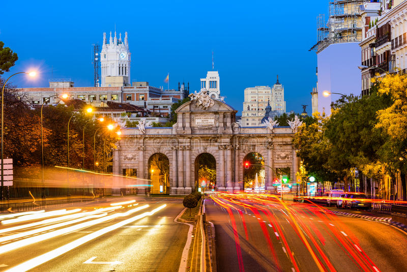 Madrid, Spain Cityscape royalty free stock images