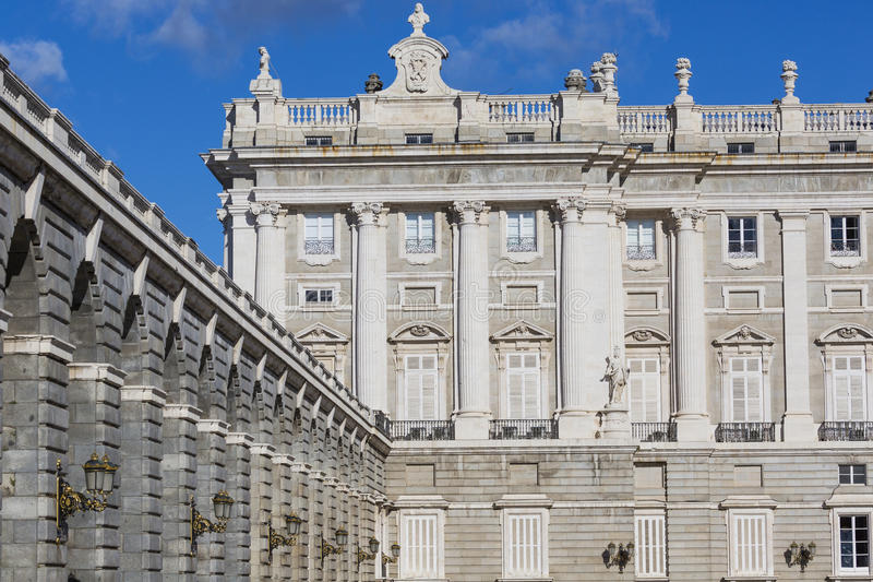 MADRID, SPAIN - DECEMBER 06, 2014: Royal Palace in Madrid.  royalty free stock images