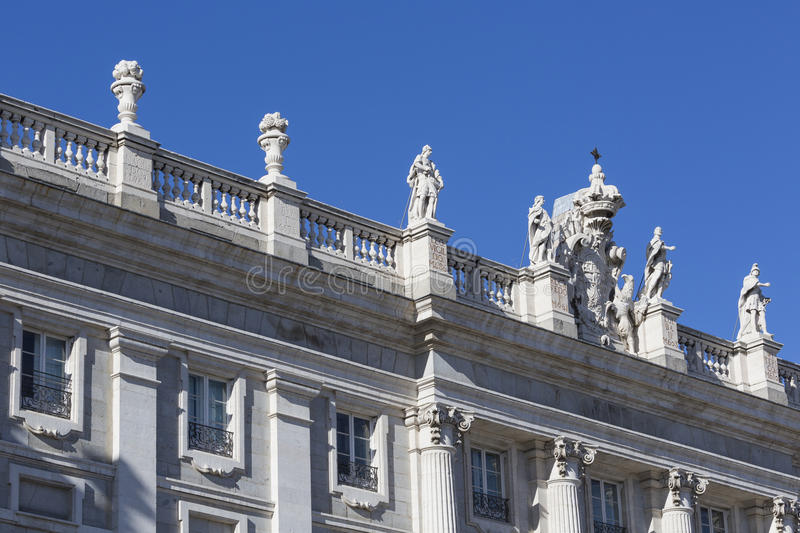 MADRID, SPAIN - DECEMBER 06, 2014: Royal Palace in Madrid.  royalty free stock photo