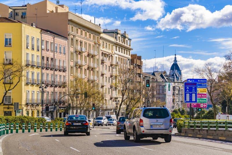 Urban Scene, Madrid, Spain stock photos