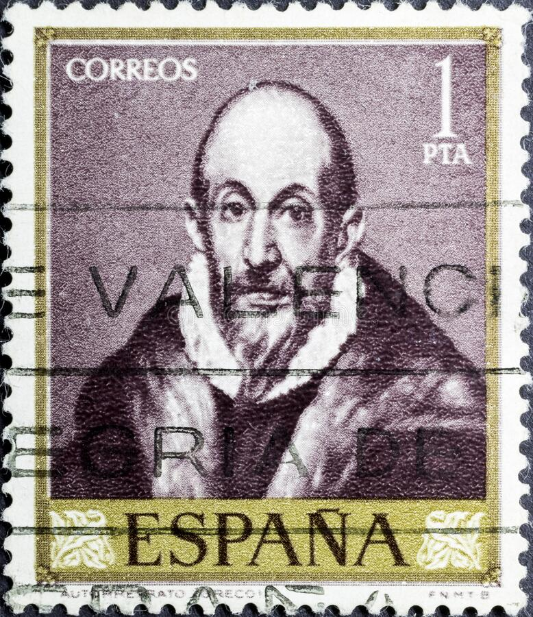 Download Shows Self-Portrait Or Portrait Of An Old Man , By El Greco Editorial Image - Image of postal ...