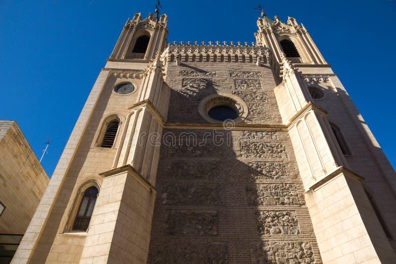 Amazing view of San Jeronimo el Rea church in City of Madrid, Spain. MADRID, SPAIN - JANUARY 22, 2018: Amazing view of San Jeronimo el Rea church in City of royalty free stock photos