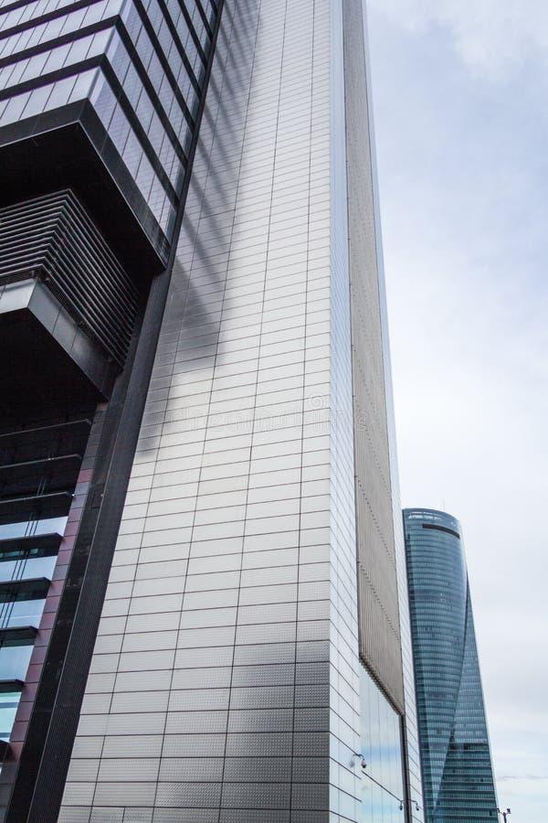 Cuatro Torres Business Area (CTBA) building skyscraper, in Madrid, Spain stock images