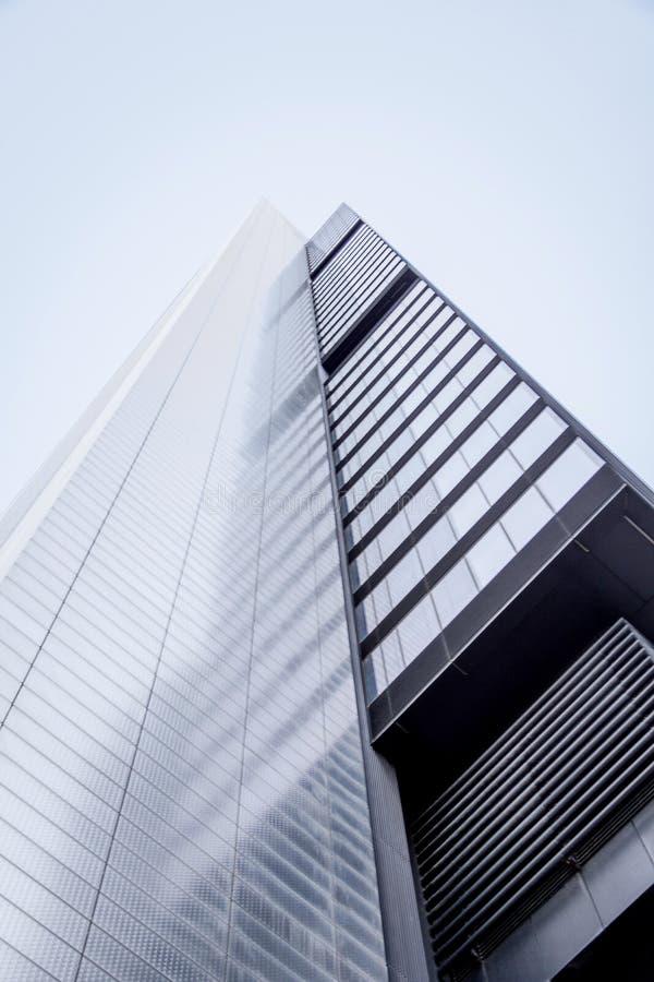Cuatro Torres Business Area (CTBA) building skyscraper, in Madrid, Spain royalty free stock photos