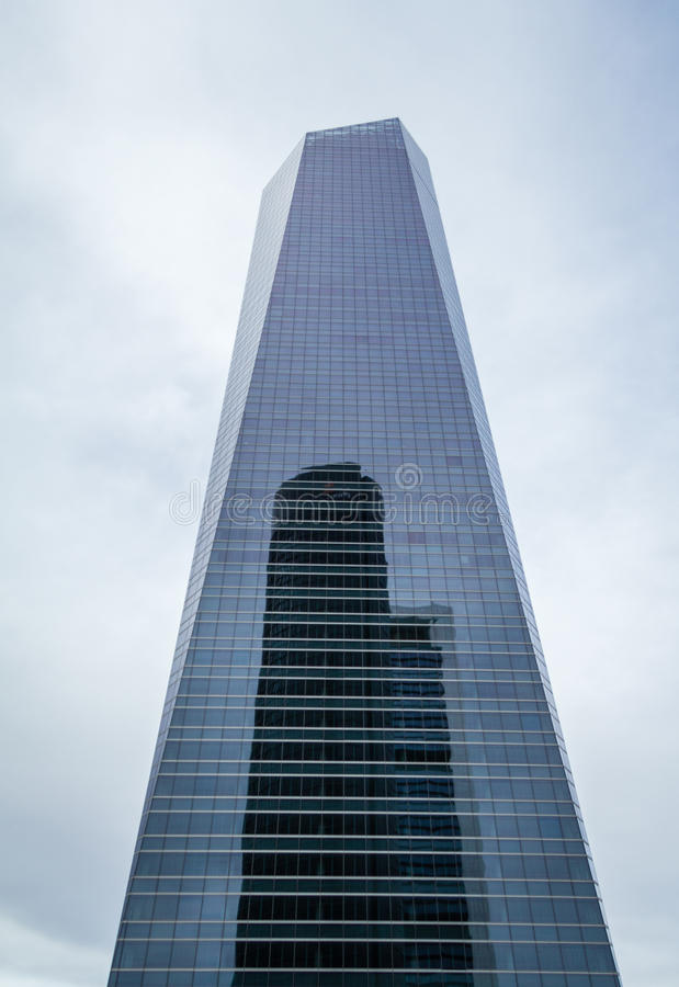 Cuatro Torres Business Area (CTBA) building skyscraper, in Madrid, Spain royalty free stock images