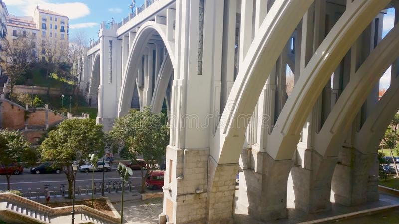 Madrid Viaduct a sunny morning royalty free stock photography