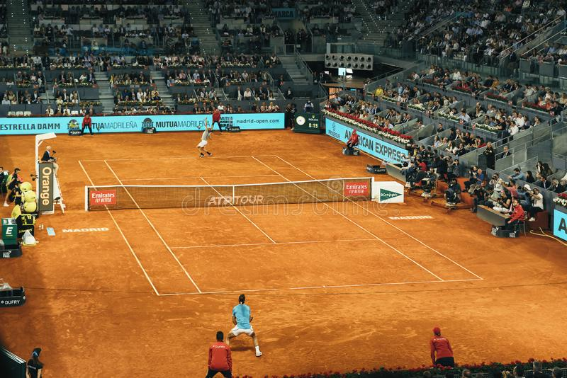 Madrid, Spain; 11 may 2019: The Caja Magica tennis center during the 2019 Mutua Madrid Open ATP Premier Mandatory tennis stock photography