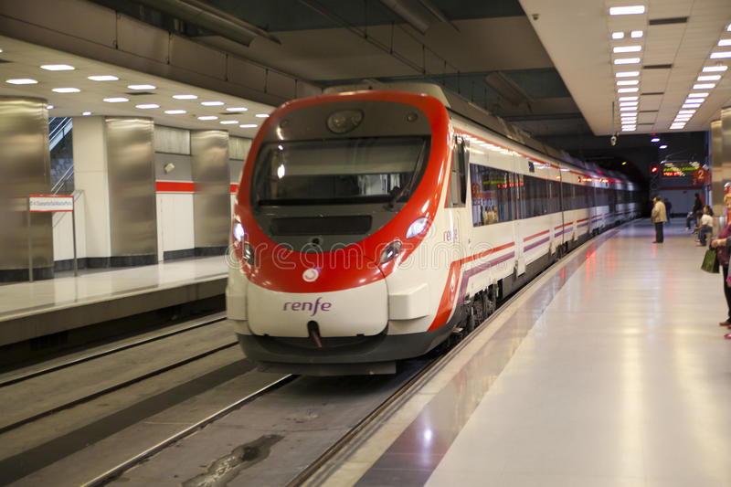 MADRID, SPAIN - MAY 28, 2014: Madrid, tube station royalty free stock images