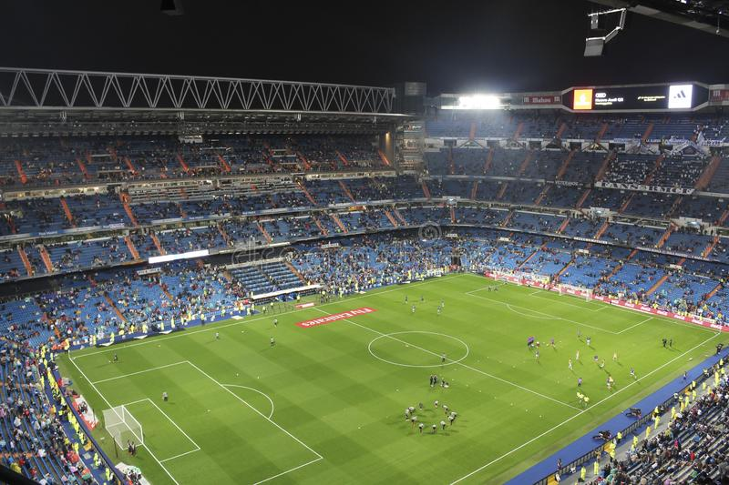 Santiago Bernabeu Stadium during a Real Madrid match in 2016. Madrid, Spain; October 23, 2016; League match between Real Madrid and Athletic Bilbao at the stock photography