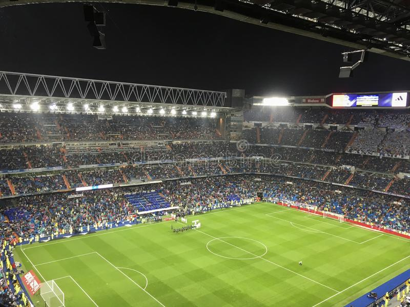 Santiago Bernabeu Stadium during a Real Madrid match in 2016. Madrid, Spain; October 23, 2016; League match between Real Madrid and Athletic Bilbao at the stock photos