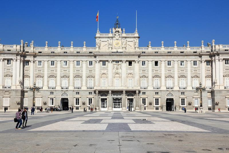 Madrid Royal Palace stock photography