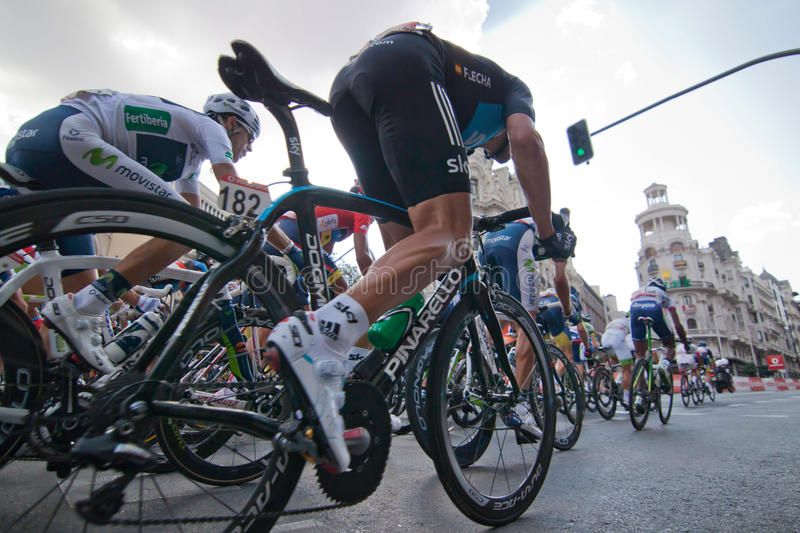 Download MADRID, SPAIN - SEP 9th 2012: Vuelta 2012. Editorial Stock Photo - Image: 26609808