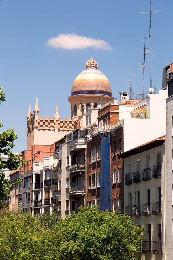 2017 05 31 Madrid, Spanien arkitektur spain Arkitektur av Madrid royaltyfri bild