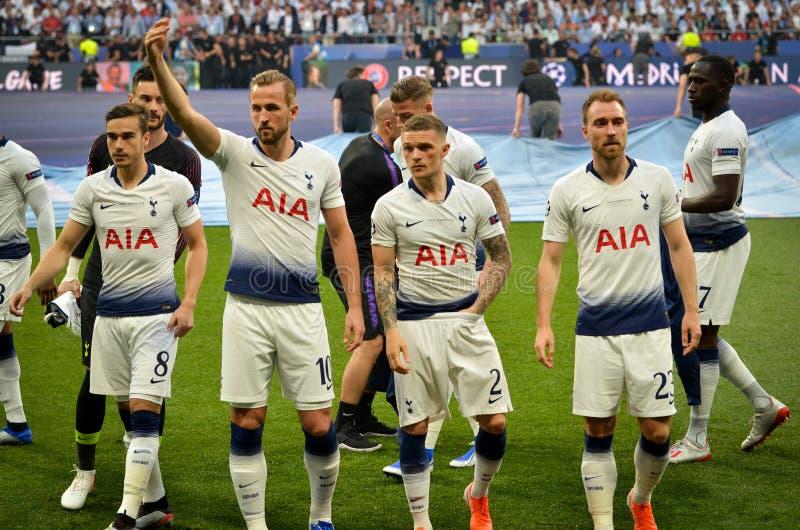 Madrid, Spanien - 1. MAI 2019: Allgemeines Teamfoto Tottenham Hotspur während des UEFA Champions League-Endspiels 2019 zwischen F stockfotos