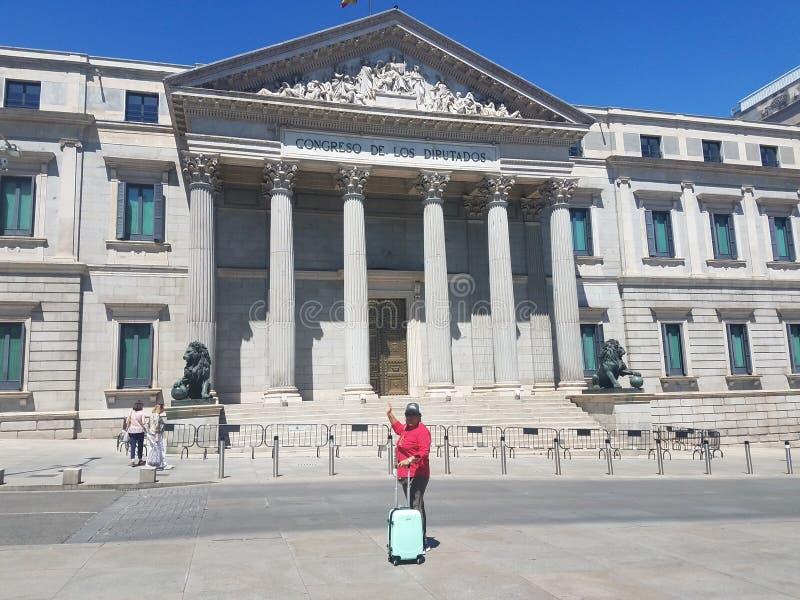 In Madrid, Spanien, mit dem weltberühmten Autor H L Dowless 2019 lizenzfreie stockfotografie