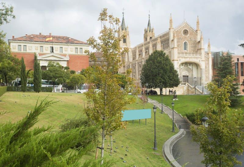 Madrid Spanien 17. Oktober 2017 Kirche ³ Sans Jerà nimo wirklicher und königlicher spanischer Akademie EL, symbolische Gebäude de lizenzfreies stockfoto