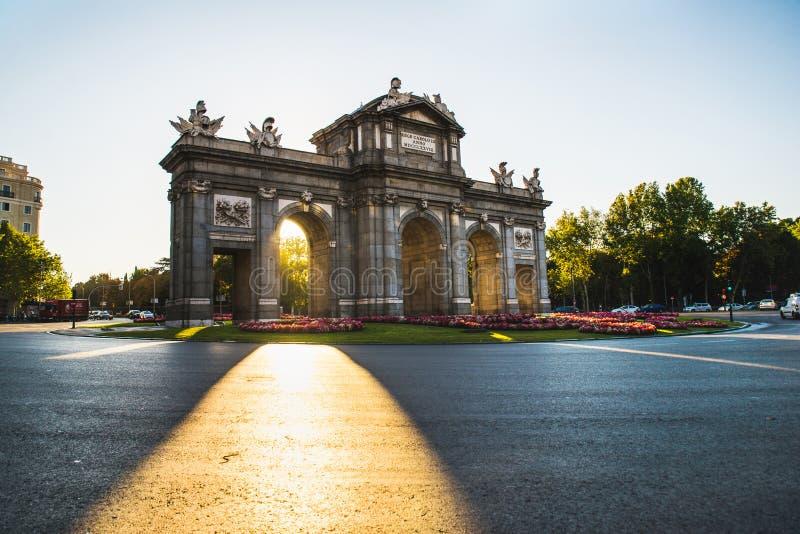 Madrid Spanien - Oktober 5th 2018 arkivbild