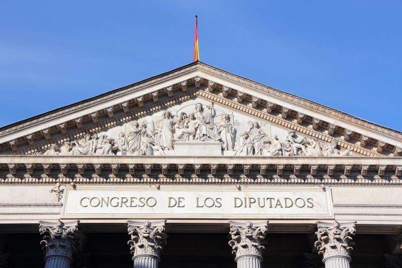 Parlament av Spanien royaltyfria bilder