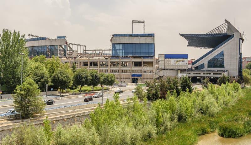 MADRID, SPANJE, 14 JULI, 2019: Vernieling van Vicente Calderón Stadium, vroeger hoofdkwartier van de voetbal van Atlético DE Madr stock afbeeldingen