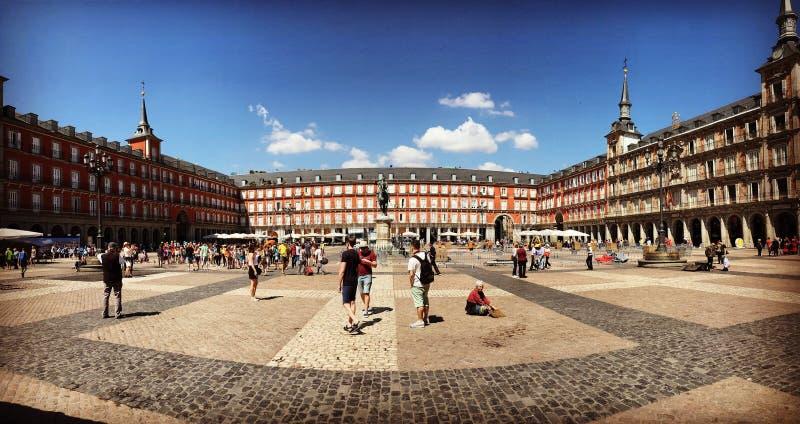 Madrid, Spanje, Pleinburgemeester royalty-vrije stock foto