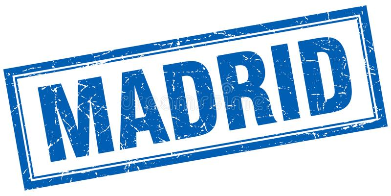 Madrid stamp. Madrid square grunge stamp. Madrid sign. Madrid royalty free illustration