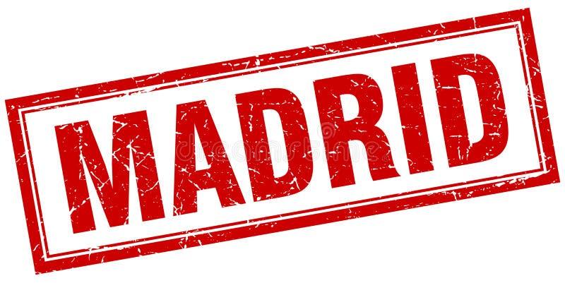 Madrid stamp. Madrid square grunge stamp. Madrid sign. Madrid vector illustration